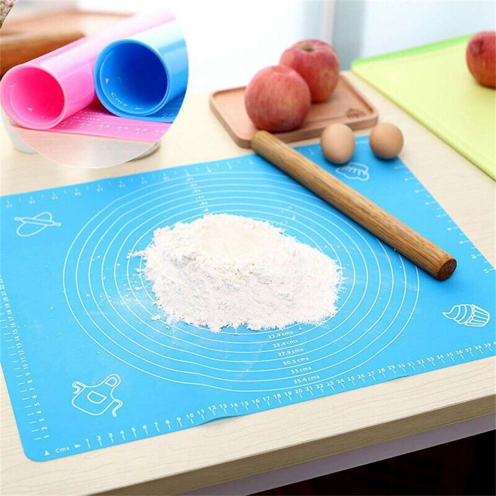 Silicone Cake Kneading Dough Non Stick Baking Mat Pastry Rolling Dough Pad (4)