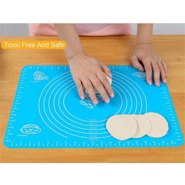 Silicone Cake Kneading Dough Non Stick Baking Mat Pastry Rolling Dough Pad (6)