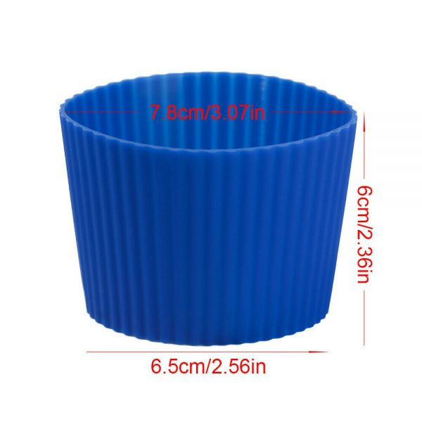 Silicone Cup Sleeve Insulation Anti Fall Non Slip Thermos Bottle Sleeves Uk (3)