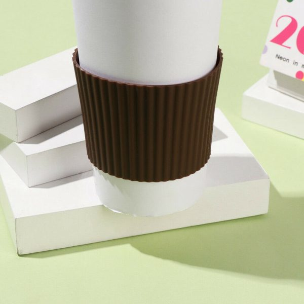 Silicone Cup Sleeve Insulation Anti Fall Non Slip Thermos Bottle Sleeves Uk (5)