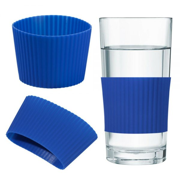 Silicone Cup Sleeve Insulation Anti Fall Non Slip Thermos Bottle Sleeves Uk (9)