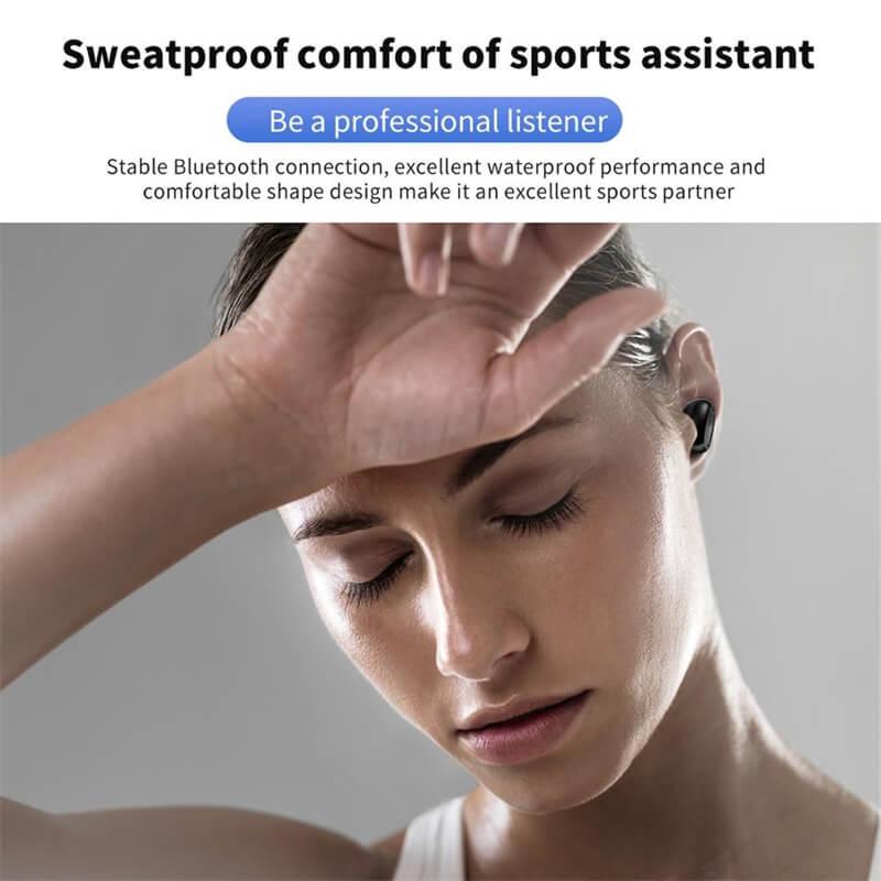 Single Ear Wireless Headphones Surround Stereo Headphone Wireless Sport Earbuds (10)
