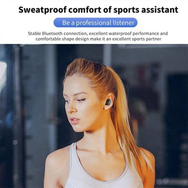 Single Ear Wireless Headphones Surround Stereo Headphone Wireless Sport Earbuds (11)