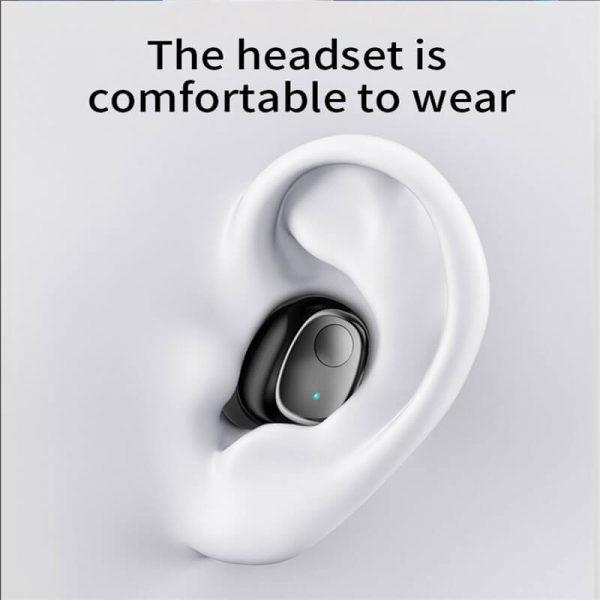 Single Ear Wireless Headphones Surround Stereo Headphone Wireless Sport Earbuds (14)