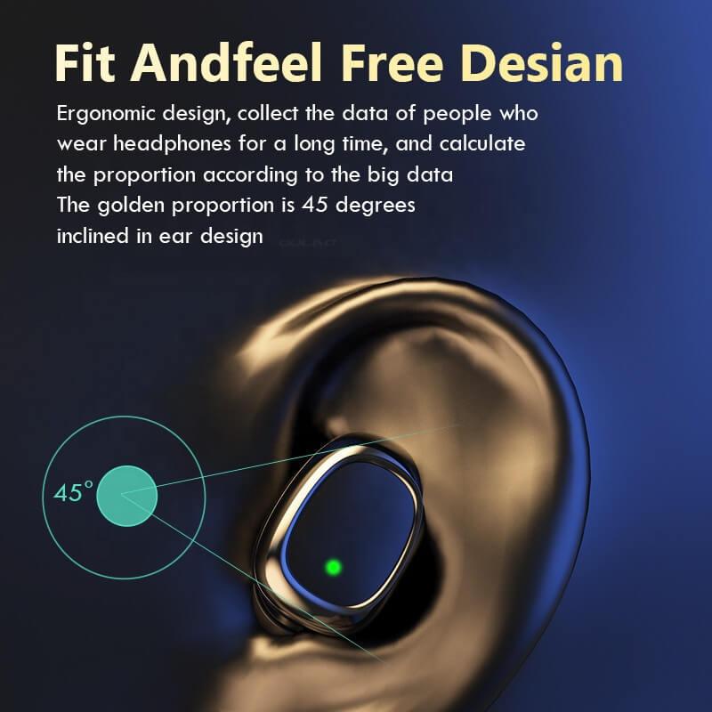 Single Ear Wireless Headphones Surround Stereo Headphone Wireless Sport Earbuds (4)