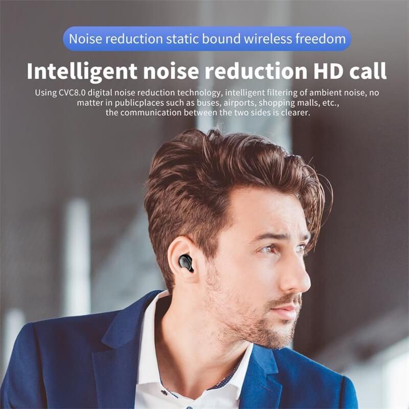 Single Ear Wireless Headphones Surround Stereo Headphone Wireless Sport Earbuds (5)