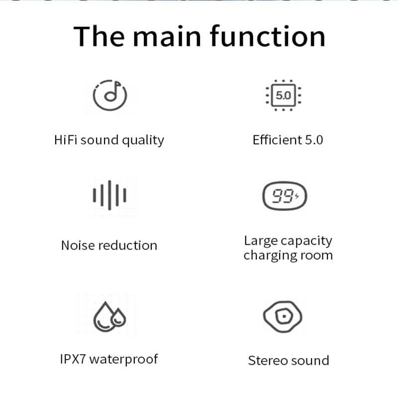 Single Ear Wireless Headphones Surround Stereo Headphone Wireless Sport Earbuds (6)