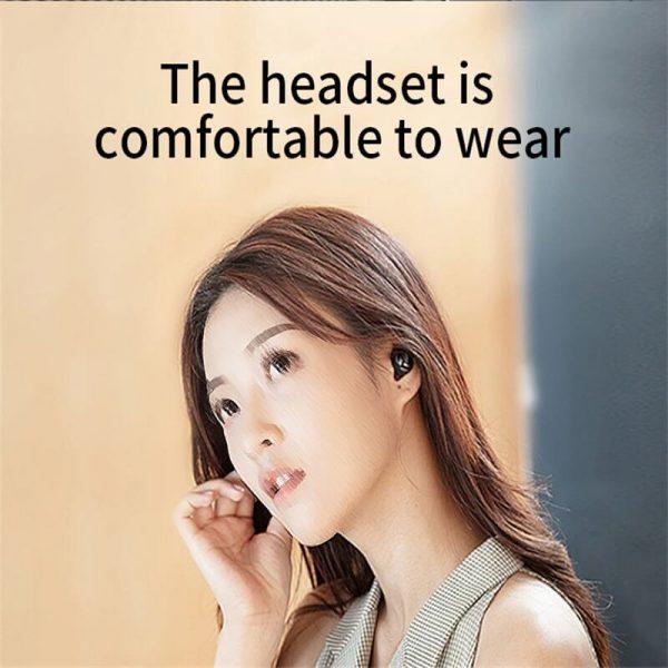 Single Ear Wireless Headphones Surround Stereo Headphone Wireless Sport Earbuds (7)