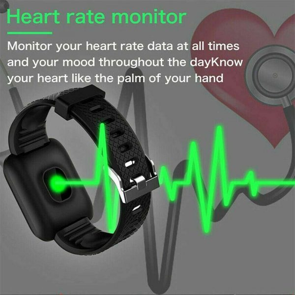 Smart Watch Band Sport Activity Fitness Tracker For Kids Fit Bit Android Ios Uk (10)