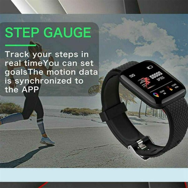Smart Watch Band Sport Activity Fitness Tracker For Kids Fit Bit Android Ios Uk (12)
