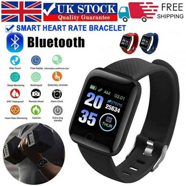 Smart Watch Band Sport Activity Fitness Tracker For Kids Fit Bit Android Ios Uk (15)