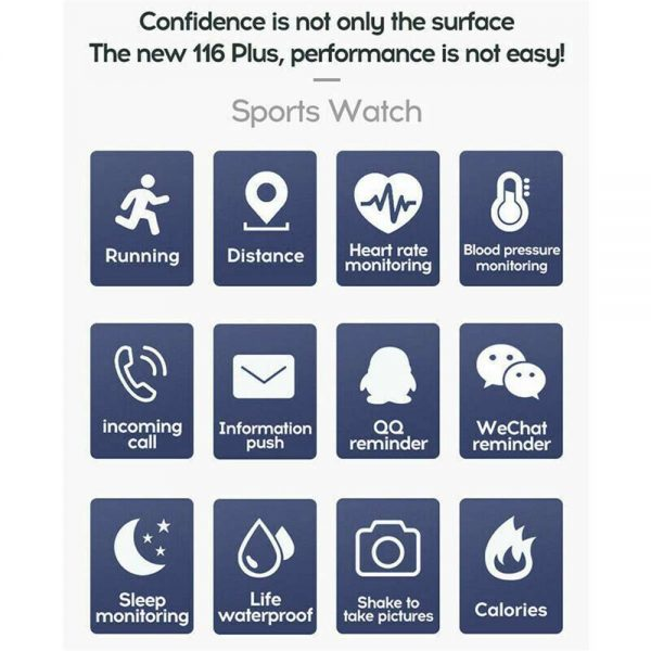 Smart Watch Band Sport Activity Fitness Tracker For Kids Fit Bit Android Ios Uk (2)