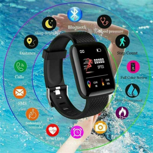 Smart Watch Band Sport Activity Fitness Tracker For Kids Fit Bit Android Ios Uk (9)