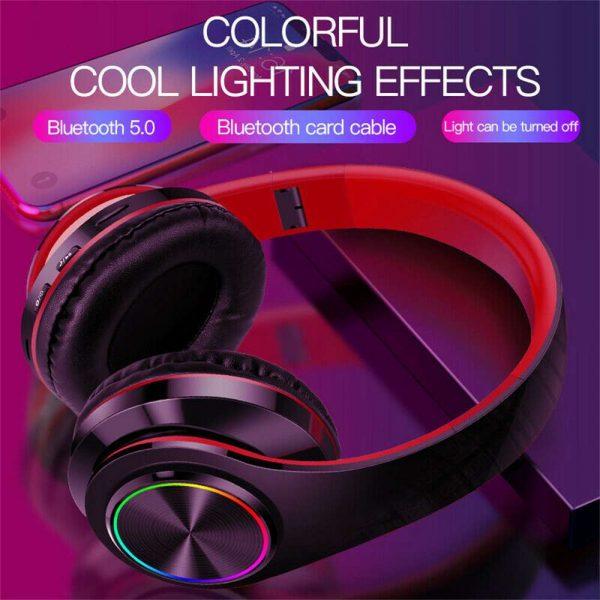 Super Bass Wireless Bluetooth Headphones Foldable Stereo Earphones Headsets Mic (20)