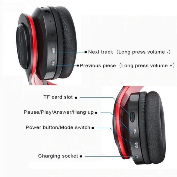 Super Bass Wireless Bluetooth Headphones Foldable Stereo Earphones Headsets Mic (22)