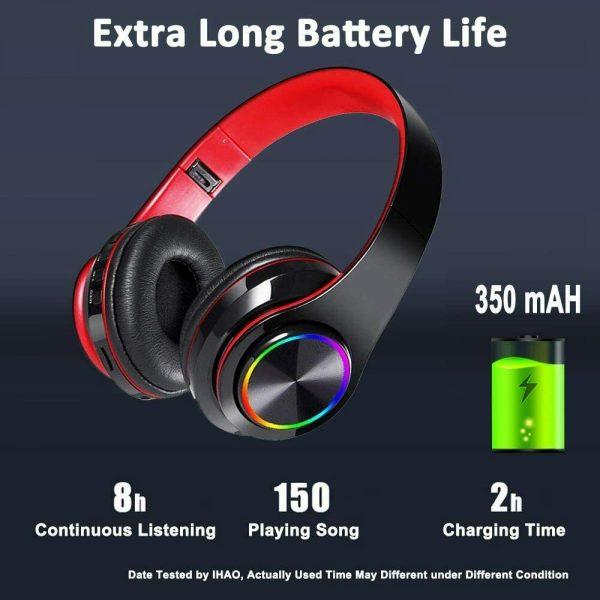 Super Bass Wireless Bluetooth Headphones Foldable Stereo Earphones Headsets Mic (24)