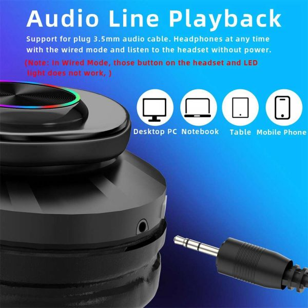Super Bass Wireless Bluetooth Headphones Foldable Stereo Earphones Headsets Mic (28)