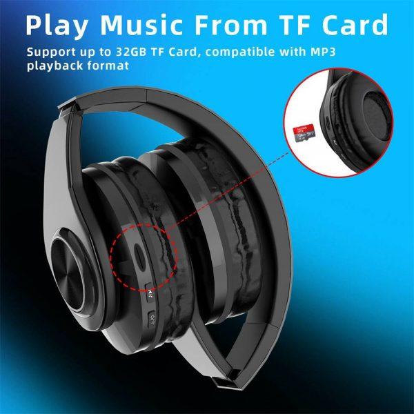 Super Bass Wireless Bluetooth Headphones Foldable Stereo Earphones Headsets Mic (30)