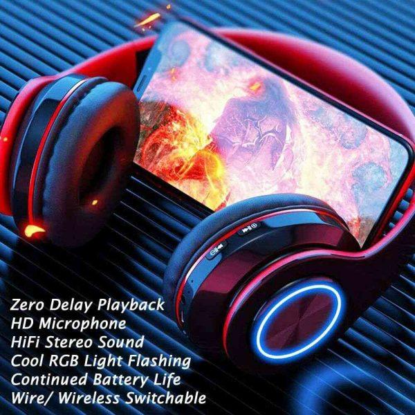 Super Bass Wireless Bluetooth Headphones Foldable Stereo Earphones Headsets Mic (31)