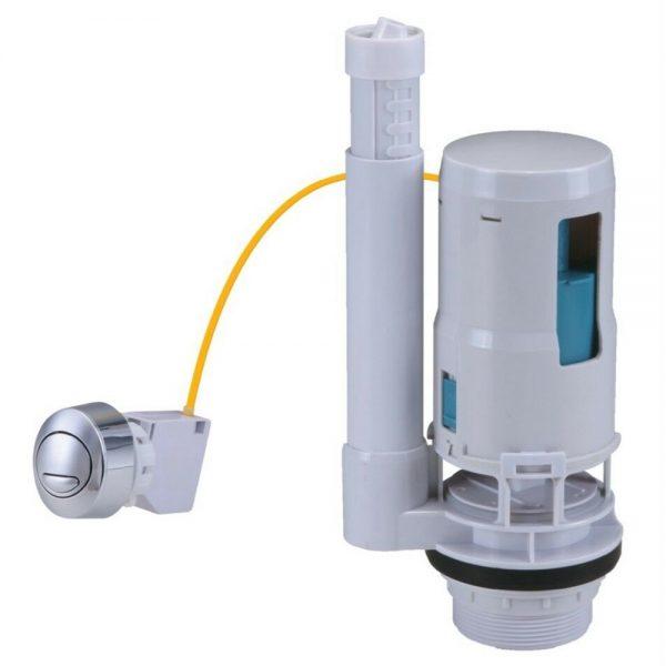 Toilet Flush Valve Button Cistern Dual Push Flush Siphon Fill Bottom Side Entry (5)