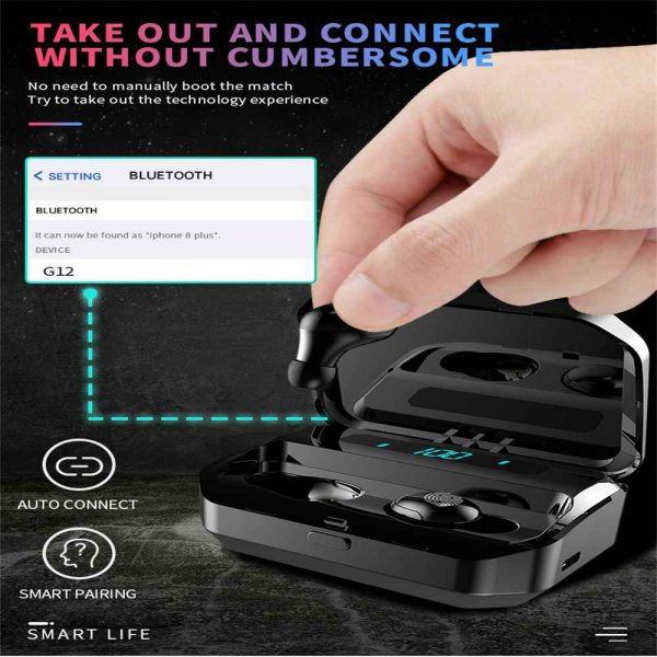 Tws Bluetooth 5.0 Headphones Wireless Earbuds Mini Earphones Stereo Headsets Ipx (7)