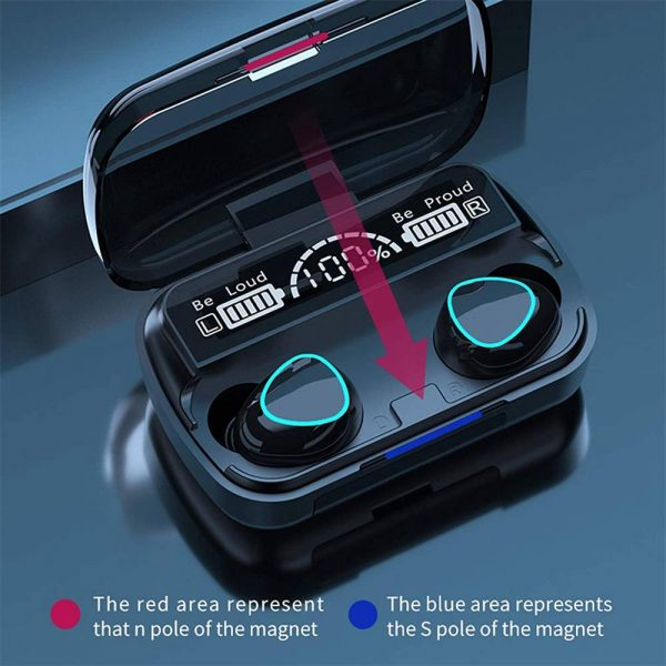 Tws Bluetooth 5.1 Earphones Charging Box Wireless Headphone Earbuds Headsets (10)