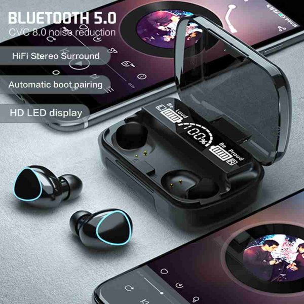 Tws Bluetooth 5.1 Earphones Charging Box Wireless Headphone Earbuds Headsets (2)