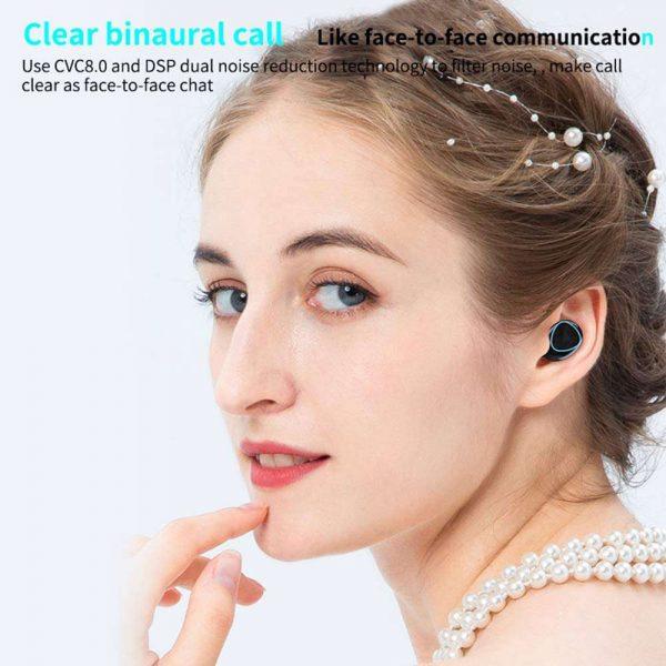 Tws Bluetooth 5.1 Earphones Charging Box Wireless Headphone Earbuds Headsets (4)