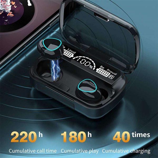 Tws Bluetooth 5.1 Earphones Charging Box Wireless Headphone Earbuds Headsets (8)