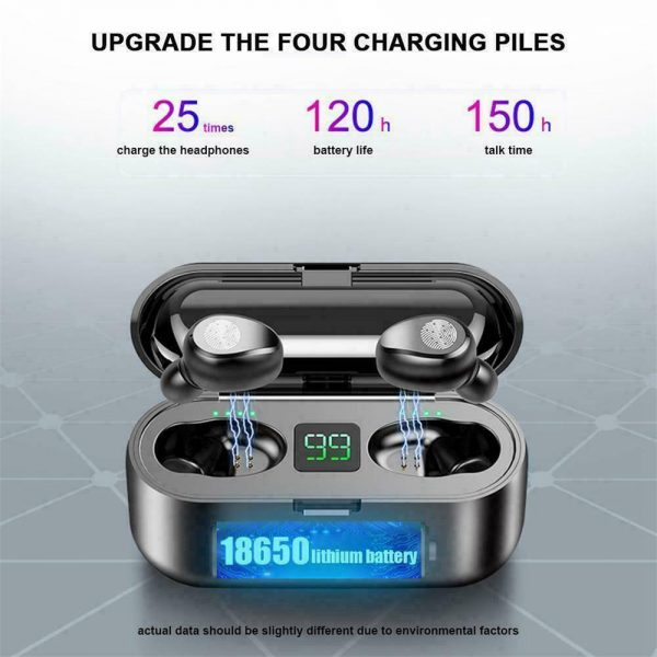Tws Wireless Earbuds Bluetooth 5.0 Earphonesheadphonesearbuds Led Display (4)