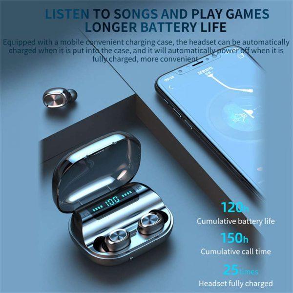 Tws Wireless Earphones Headphones Bluetooth In Ear Earbuds For Iphone Samsung Uk (4)