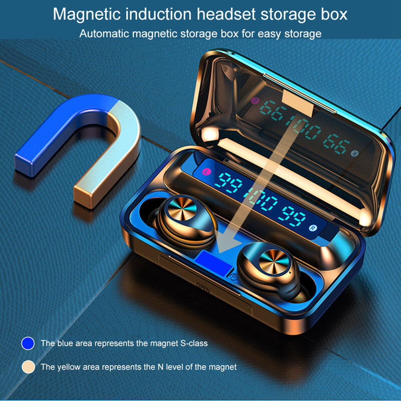 Touch Control Stereo Earphones Charging Case 3 Lcd Led Battery Display With Microphone Sports Earphones (2)