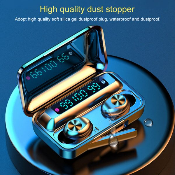 Touch Control Stereo Earphones Charging Case 3 Lcd Led Battery Display With Microphone Sports Earphones (3)