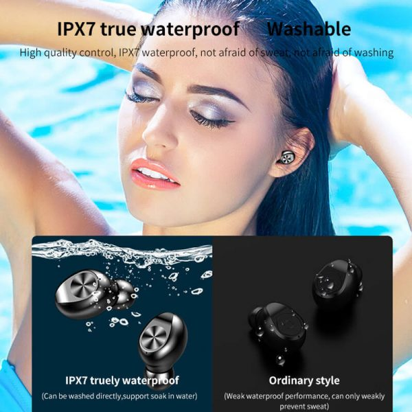 Touch Control Stereo Earphones Charging Case 3 Lcd Led Battery Display With Microphone Sports Earphones (8)