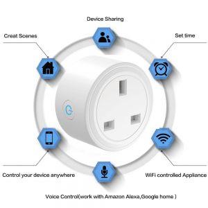 Uk Plug Wifi Smart Socket Power Plug Outlet Remote Control Home Mini Smart Socket (3)