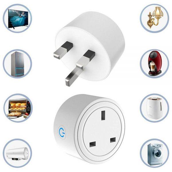 Uk Plug Wifi Smart Socket Power Plug Outlet Remote Control Home Mini Smart Socket (4)