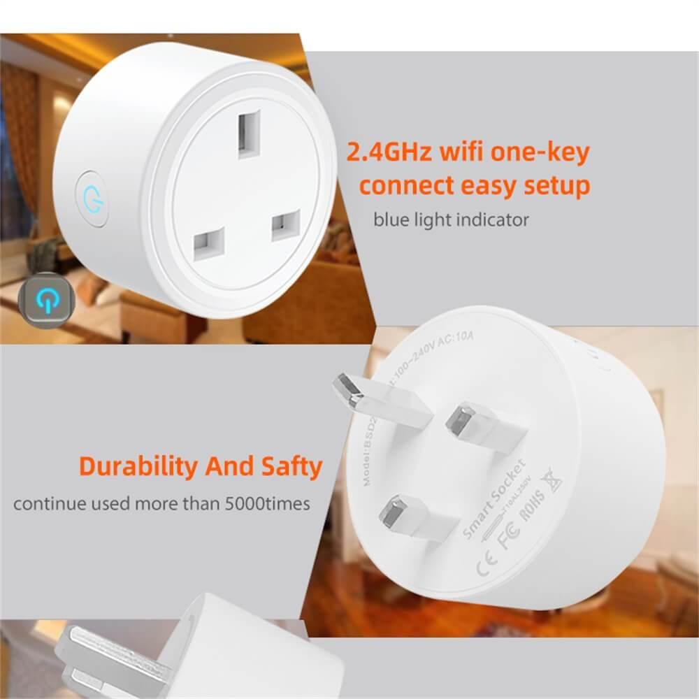 Uk Plug Wifi Smart Socket Power Plug Outlet Remote Control Home Mini Smart Socket (5)