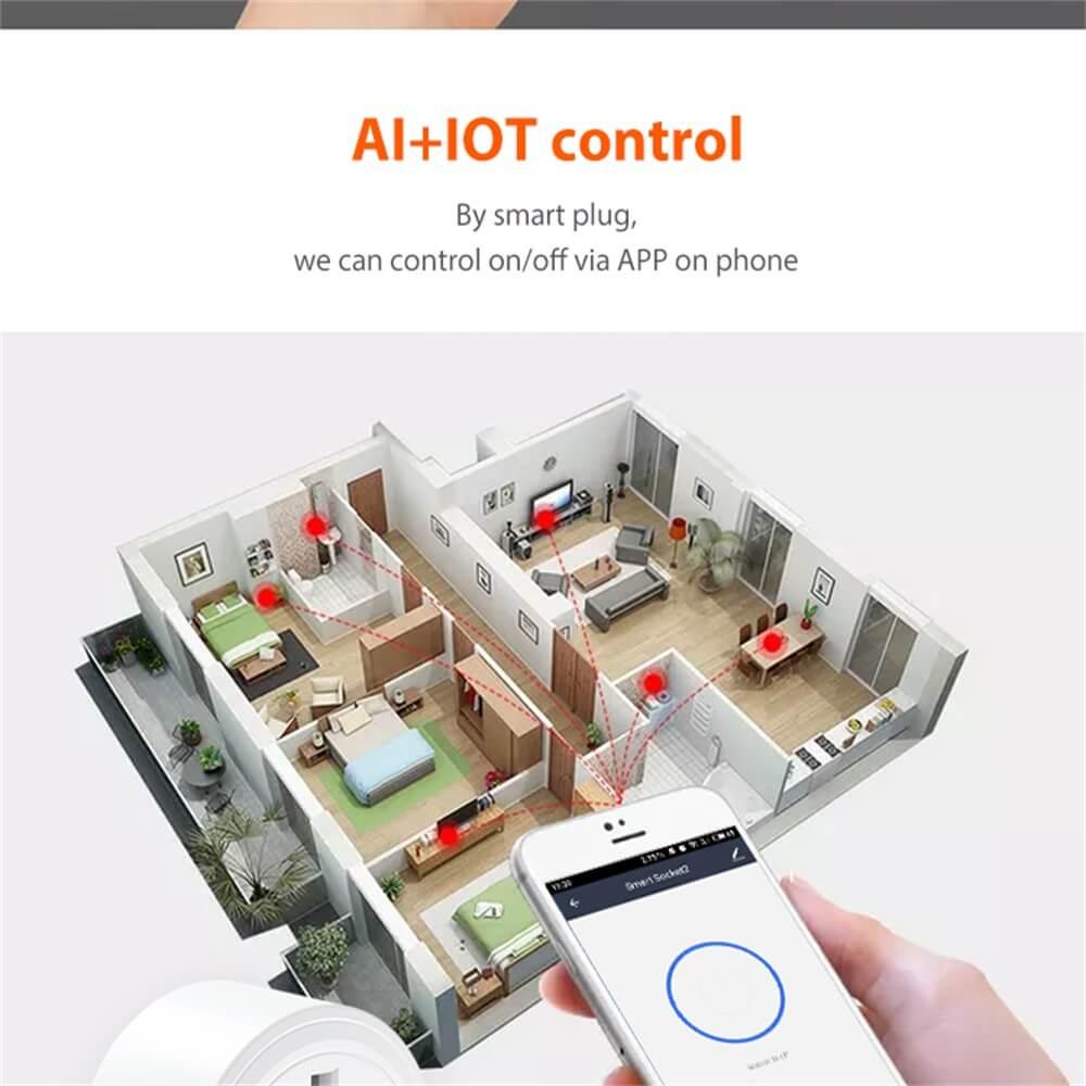 Uk Plug Wifi Smart Socket Power Plug Outlet Remote Control Home Mini Smart Socket (6)