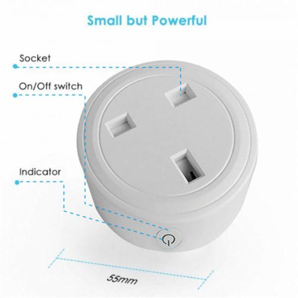 Uk Plug Wifi Smart Socket Power Plug Outlet Remote Control Home Mini Smart Socket (7)