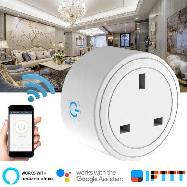 Uk Plug Wifi Smart Socket Power Plug Outlet Remote Control Home Mini Smart Socket (8)