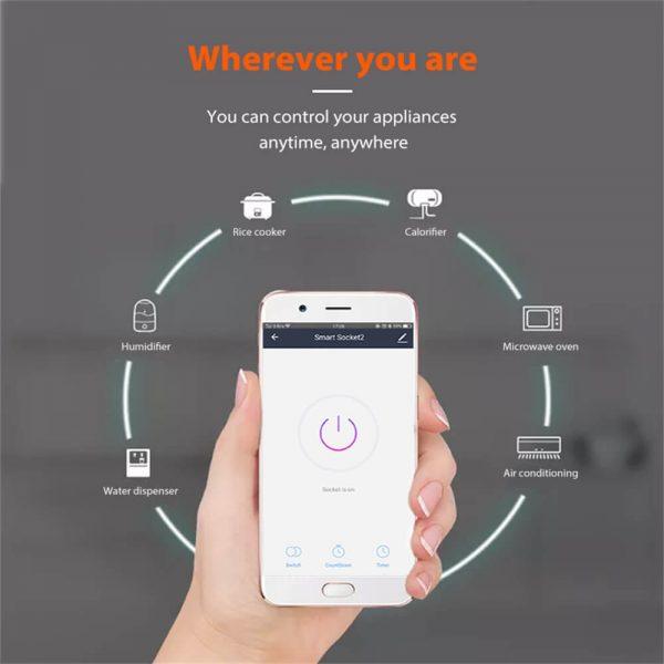 Uk Plug Wifi Smart Socket Power Plug Outlet Remote Control Home Mini Smart Socket (9)