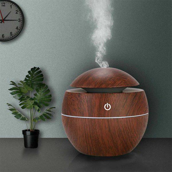Usb Quiet Led Car Humidifier Air Purifier Essential Oil Aroma Diffuser (10)