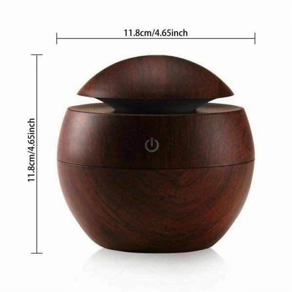 Usb Quiet Led Car Humidifier Air Purifier Essential Oil Aroma Diffuser (11)