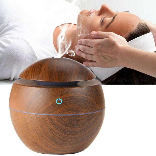 Usb Quiet Led Car Humidifier Air Purifier Essential Oil Aroma Diffuser (13)