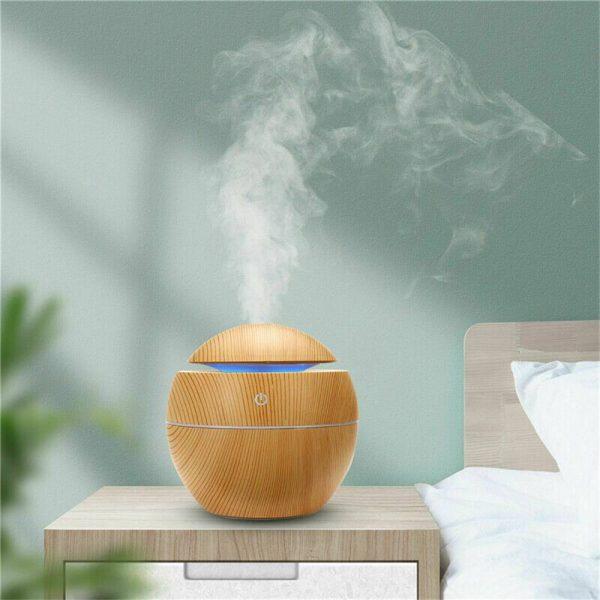 Usb Quiet Led Car Humidifier Air Purifier Essential Oil Aroma Diffuser (19)