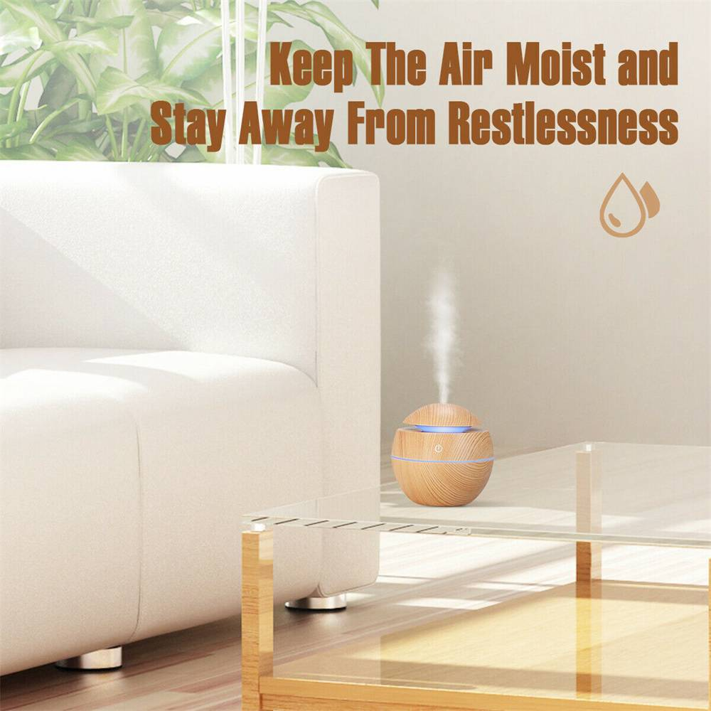 Usb Quiet Led Car Humidifier Air Purifier Essential Oil Aroma Diffuser (8)