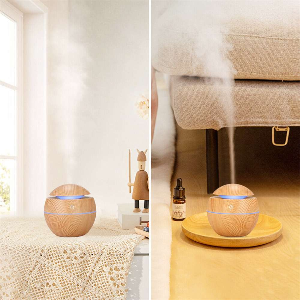 Usb Quiet Led Car Humidifier Air Purifier Essential Oil Aroma Diffuser (9)