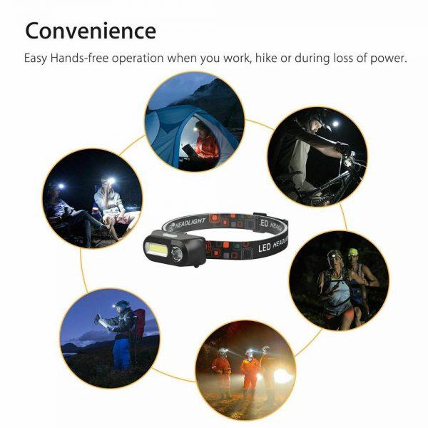 Usb Rechargeable Led Headlamp Headlight Head Lamp Torch Flashlight Waterproof (11)