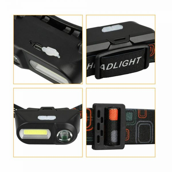 Usb Rechargeable Led Headlamp Headlight Head Lamp Torch Flashlight Waterproof (12)