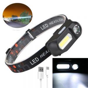 Usb Rechargeable Led Headlamp Headlight Head Lamp Torch Flashlight Waterproof (13)